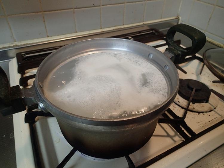 15分ほど煮ます。